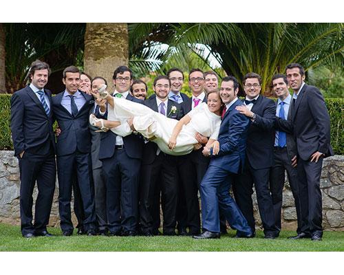 La novia con los invitados