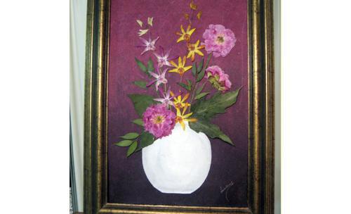 Motivos florales en cuadros
