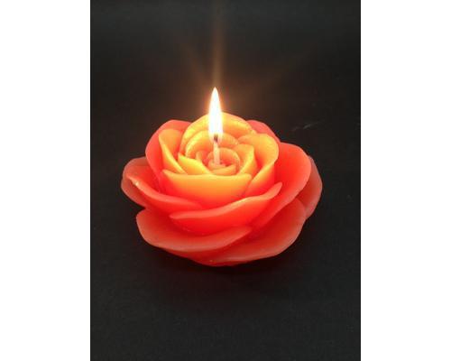 Vela con aroma a rosa