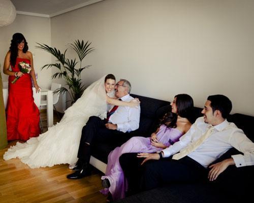 La familia antes de la boda