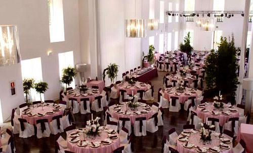 Espectacular montaje de banquete de boda