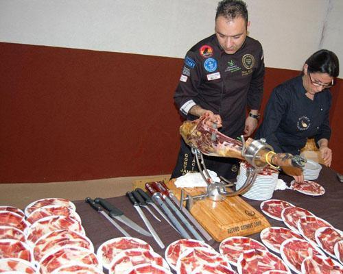 Cortadores de jamón de catering san jorge