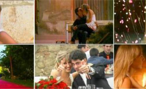 Frames de diferentes fragmentos de un video de boda
