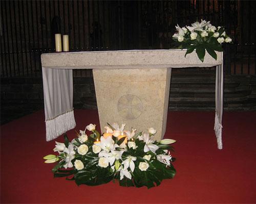 Centros en el altar