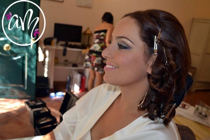 Maquilladora novia Huelva y Sevilla. Maquillaje de fiesta para novia.