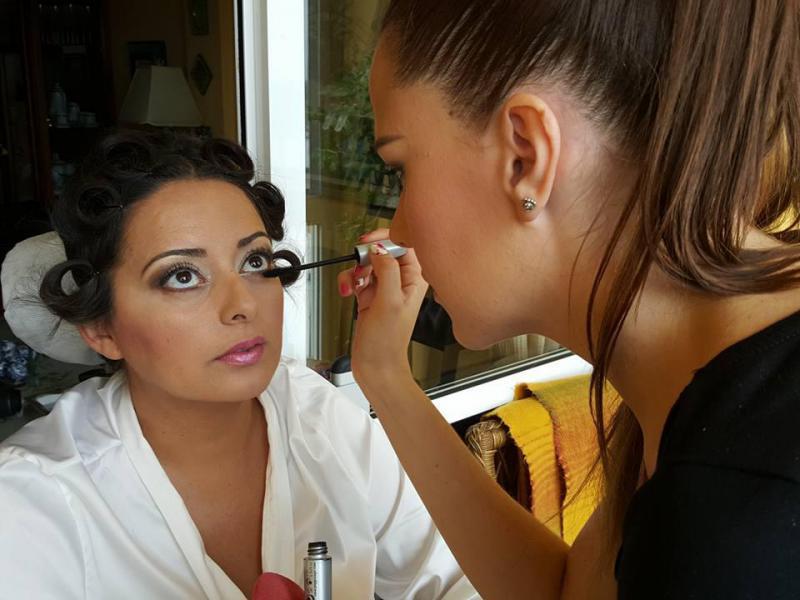 Prueba de maquillaje en Huelva para novia