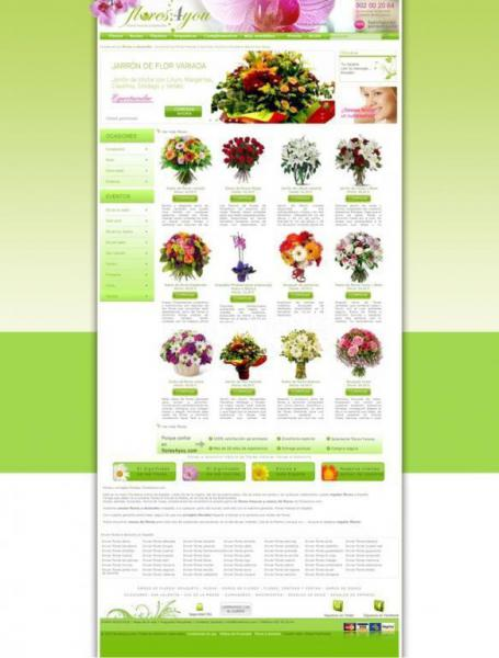 Web envio flores a domicilio Flores4you.com