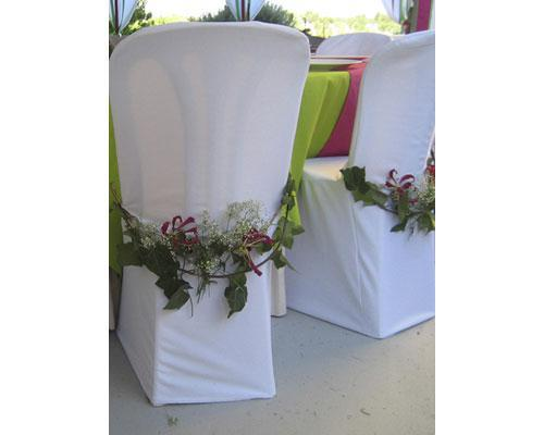 Decoración floral de sillas