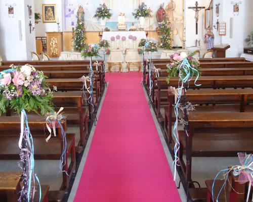 Flores para la entrada de la novia