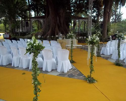 Flores para ceremonias en exterior